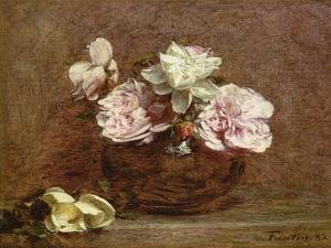 Roses of Nice, 1882 by Ignace Henri Jean Fantin-Latour