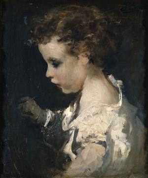 Boy (with curly hair and white shirt), 1845 by Ignacio Pinazo camarlench