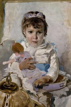 Girl with a Doll by Ignacio Pinazo camarlench