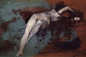 Nude, 1895 by Ignacio Pinazo camarlench