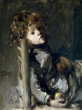 The Artists Son, Ignacio, Seated, 1887 by Ignacio Pinazo camarlench