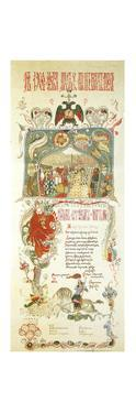 Menu of the Easter Meal on 11 April 1900 by Ignaty Nivinsky