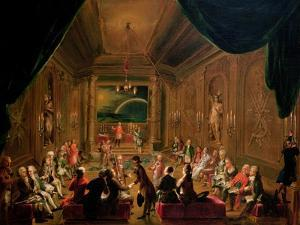 Initiation Ceremony in a Viennese Masonic Lodge During the Reign of Joseph II by Ignaz Unterberger
