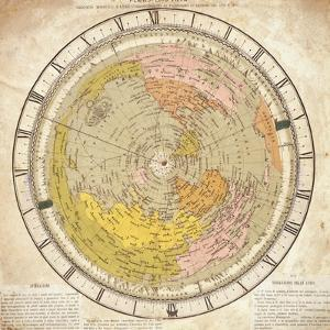 World Clock and Time Lines Indicating Path of Venus from 1874 to 1882, from Villa's Map of World by Ignazio Villa
