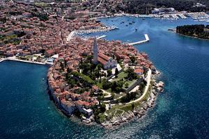 Aerial Shoot of Old Town Rovinj, Istra Region, Croatia. by Igor Karasi