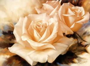 Pink Roses by Igor Levashov