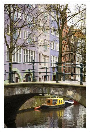 Boat under the Bridge, Amsterdam