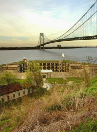 Fort Wadsworth by Verrazano Bridge by Igor Maloratsky