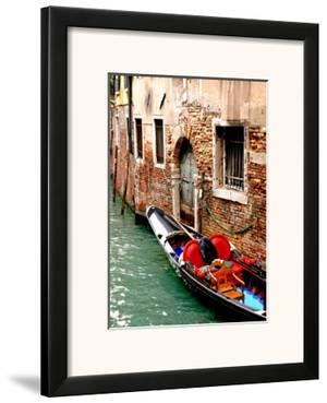 Gondola by a Brick Wall, Venice by Igor Maloratsky