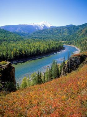 Autumn Colours and Katun River, Katunsky Zapovednik, Altai Mountains, Russia by Igor Shpilenok