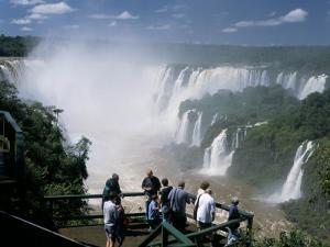 Iguacu (Iguazu) Falls, Border of Brazil and Argentina, South America by G Richardson