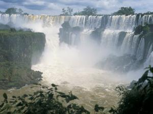 Iguacu (Iguazu) Falls, Border of Brazil and Argentina, South America by G Richardson