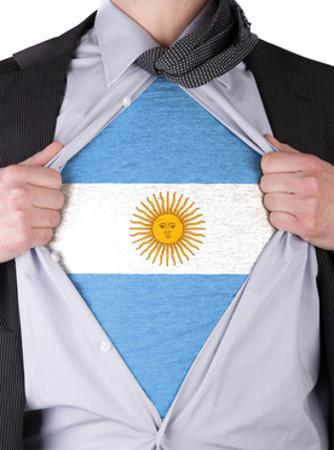 Business Man With Argentinian Flag T-Shirt by IJdema