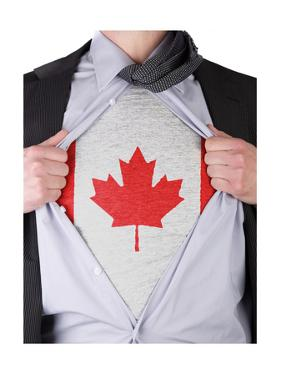 Business Man With Canadian Flag T-Shirt by IJdema