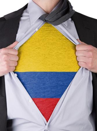 Business Man With Colombian Flag T-Shirt by IJdema