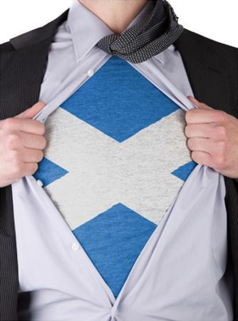 Business Man With Scottish Flag T-Shirt by IJdema