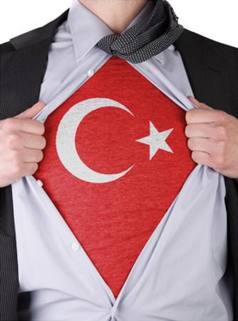 Business Man With Turkish Flag T-Shirt by IJdema