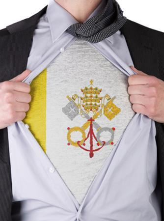 Business Man With Vatican City Flag T-Shirt by IJdema