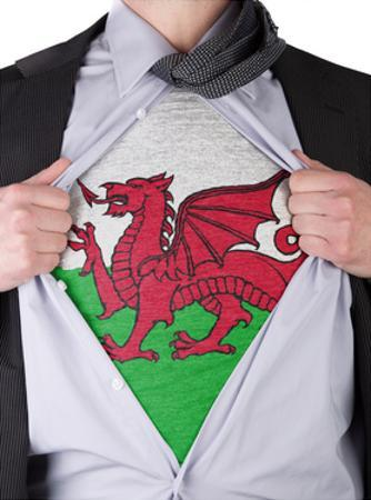 Business Man With Welsh Flag T-Shirt by IJdema