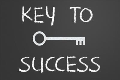 Key To Success Written On A Chalkboard by IJdema