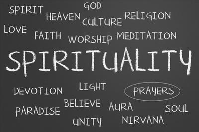 Spirituality Word Cloud by IJdema
