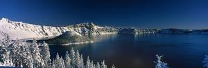 Winter at Crater Lake by Ike Leahy