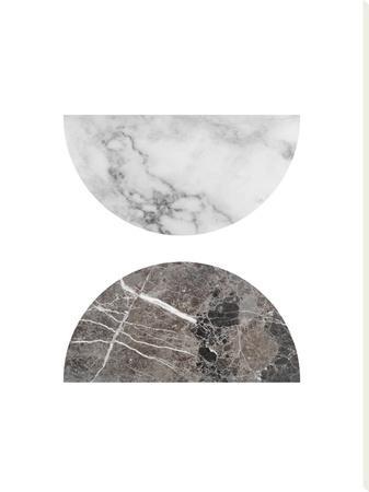 Geometric Marble Half Moon Circles by Ikonolexi