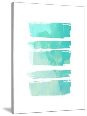 Turquoise Watercolor Brush Strokes by Ikonolexi