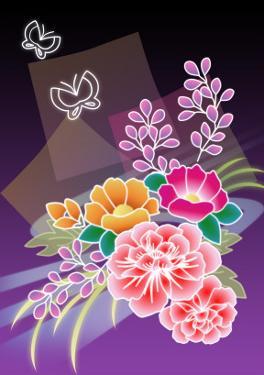 Flower Arrangement Purple by Ikuko Kowada