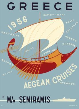 Greece - Aegean Cruises - by M/V Semiramis - Greek islands, including Skiathos, Delos, Skyros, Milo by Ilissos N.