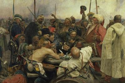 The Zaporozhye Cossacks Writing a Letter to the Turkish Sultan, 1880-91 by Ilja Efimowitsch Repin