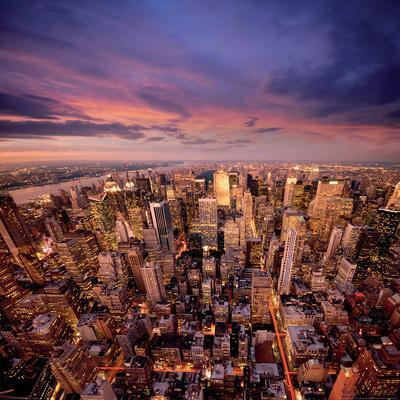 Big Apple after Sunset-Manhattan-New York