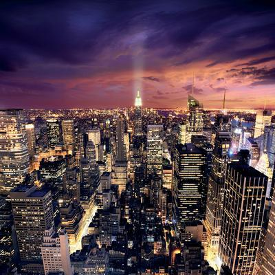 Big Apple after sunset, Manhattan, New York