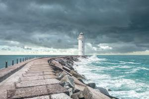 Lighthouse at the End of the Pier by ilker canikligil