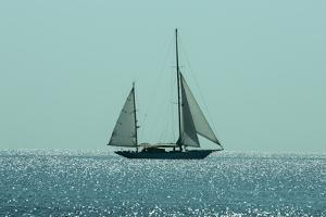 Yacht Sailing in Mediterranean during Summer by ilker canikligil
