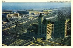 Illinois Central Station, Chicago, C.1920-40