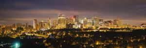 Illuminated Building at Night, Edmonton, Alberta, Canada