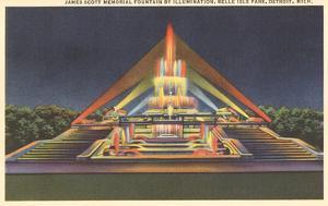 Illuminated Fountain, Belle Isle, Detroit, Michigan