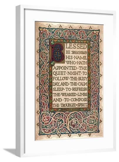 'Illuminated manuscript to illustrate Walter Scott's The Talisman', c1830-Sangorski and Sutcliffe-Framed Giclee Print