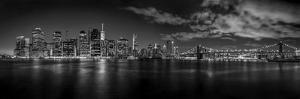 Illuminated Skylines at the Waterfront, Manhattan, New York City, New York State, USA
