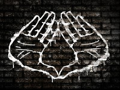 Illuminati Hand Sign Graffiti