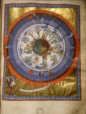 """Illumination from Hildegard Von Bingen's """"Liber Divinorum Operum"""" or """"Book of Divine Works"""", in…"""