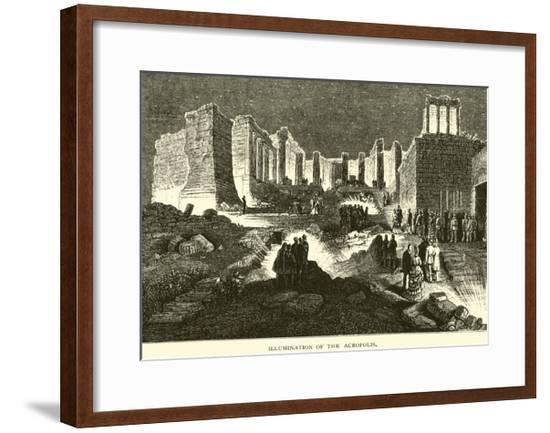 Illumination of the Acropolis--Framed Giclee Print
