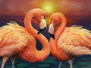 Illustration of Flamingos by Illustration by Shannon Posedenti