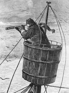 Illustration of a Sailor in Crows Nest