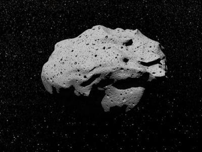 Illustration of an Asteroid in Outer Space