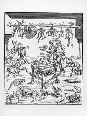 Illustration of an Italian Renaissance Kitchen
