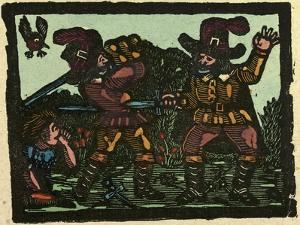 Illustration of English Tales Folk Tales and Ballads. a Sword Fight