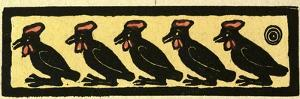 Illustration of English Tales Folk Tales and Ballads. Five Birds