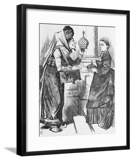 Illustration of Exchange between Disraeli and Queen Victoria--Framed Giclee Print